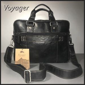 Briefcase Jack Georges Voyager Collection Bag Slim